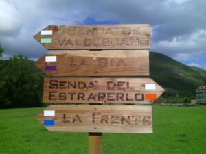 Cartel de señalización en la zona de Las Machorras
